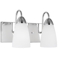 Sea Gull 4420202-05 Seville 2 Light 14 inch Chrome Bath Vanity Wall Light