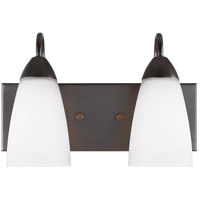 Sea Gull 4420202EN3-710 Seville 2 Light 14 inch Burnt Sienna Wall Bath Fixture Wall Light