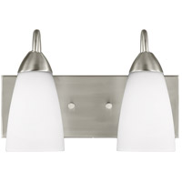 Sea Gull 4420202EN3-962 Seville 2 Light 14 inch Brushed Nickel Wall Bath Fixture Wall Light
