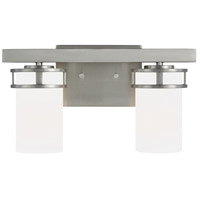 Sea Gull 4421602-962 Robie 2 Light 15 inch Brushed Nickel Wall Bath Wall Light