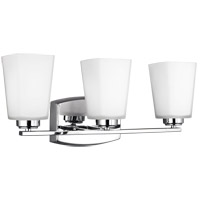 Sea Gull 4423003EN3-05 Waseca 3 Light 21 inch Chrome Wall Bath Fixture Wall Light
