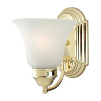 Sea Gull Lighting Linwood 1 Light Bath Vanity in Polished Brass 44235-02 photo thumbnail
