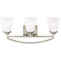Hanford 3 Light 24 inch Brushed Nickel Wall Bath Wall Light in Standard