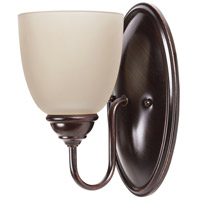 Sea Gull 44316BLE-710 Lemont 1 Light 5 inch Burnt Sienna Wall Sconce Wall Light in Cafe Tint Glass, Fluorescent photo thumbnail