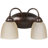Seagull Lemont 2 Light Bath Light in Burnt Sienna 44317BLE-710