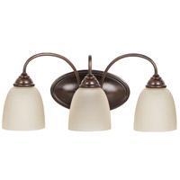 Sea Gull Lemont 3 Light Bath Light in Burnt Sienna 44318-710