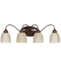 Lemont 4 Light 29 inch Burnt Sienna Bath Light Wall Light in Standard