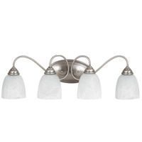 Lemont 4 Light 29 inch Antique Brushed Nickel Bath Light Wall Light in Fluorescent