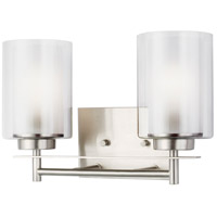 Sea Gull 4437302EN3-962 Elmwood Park 2 Light 13 inch Brushed Nickel Bath Vanity Wall Light