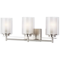 Sea Gull 4437303EN3-962 Elmwood Park 3 Light 22 inch Brushed Nickel Bath Vanity Wall Light