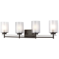 Sea Gull 4437304-782 Elmwood Park 4 Light 31 inch Heirloom Bronze Bath Vanity Wall Light