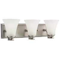 Somerton 3 Light 22 inch Antique Brushed Nickel Bath Vanity Wall Light in Satin Etched Glass, Fluorescent