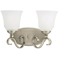 Parkview 2 Light 15 inch Antique Brushed Nickel Bath Vanity Wall Light in Satin Etched Glass