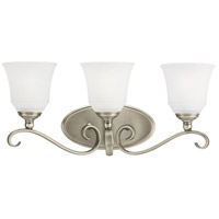 Parkview 3 Light 23 inch Antique Brushed Nickel Bath Vanity Wall Light in Satin Etched Glass