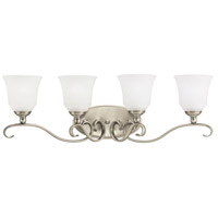 Parkview 4 Light 32 inch Antique Brushed Nickel Bath Vanity Wall Light in Satin Etched Glass