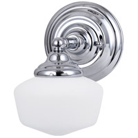 Academy 1 Light 7 inch Chrome Wall Sconce Wall Light in Standard