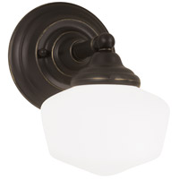 Academy 1 Light 7 inch Heirloom Bronze Bath Sconce Wall Light in Standard