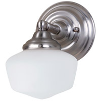Academy 1 Light 7 inch Brushed Nickel Wall Sconce Wall Light in Standard