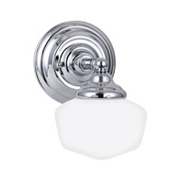 Academy 1 Light 7 inch Chrome Bath Vanity Light Wall Light