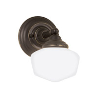 Academy 1 Light 7 inch Heirloom Bronze Bath Vanity Light Wall Light