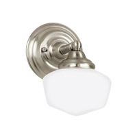 Academy 1 Light 7 inch Brushed Nickel Bath Vanity Light Wall Light