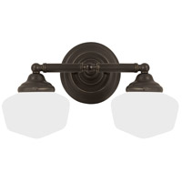 Academy 2 Light 17 inch Heirloom Bronze Bath Vanity Wall Light in Standard