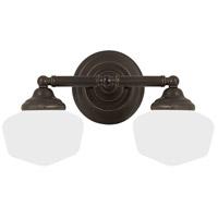 Sea Gull 44437-782 Academy 2 Light 17 inch Heirloom Bronze Bath Vanity Wall Light