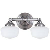 Sea Gull 44437-962 Academy 2 Light 17 inch Brushed Nickel Bath Light Wall Light