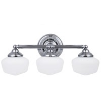 Sea Gull 44438-05 Academy 3 Light 23 inch Chrome Bath Vanity Wall Light