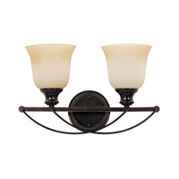 Park West 2 Light 18 inch Burnt Sienna Bath Vanity Wall Light in Standard