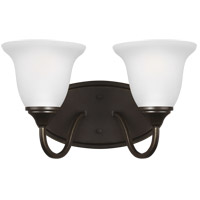 Sea Gull 4450502-782 Clement 2 Light 14 inch Heirloom Bronze Wall Bath Fixture Wall Light