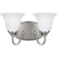 Sea Gull 4450502EN3-962 Clement 2 Light 14 inch Brushed Nickel Wall Bath Fixture Wall Light