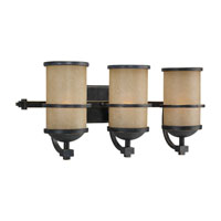 Roslyn 3 Light 24 inch Flemish Bronze Bath Vanity Wall Light in Fluorescent