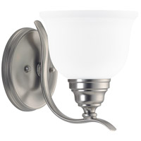 Wheaton 1 Light 6 inch Brushed Nickel Bath Vanity Wall Light in Standard