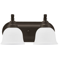 Wheaton 2 Light 15 inch Heirloom Bronze Bath Vanity Wall Light in Standard