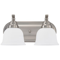 Wheaton 2 Light 15 inch Brushed Nickel Bath Vanity Wall Light in Standard