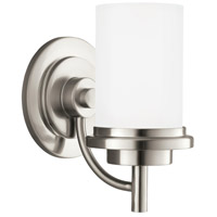 Sea Gull 44660BLE-962 Winnetka 1 Light 6 inch Brushed Nickel Bath Sconce Wall Light in Satin Etched Glass, Fluorescent photo thumbnail