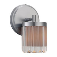 Sea Gull Lighting Nuit Noir Crystal 1 Light Wall / Bath / Vanity in Brushed Chrome 44690-863