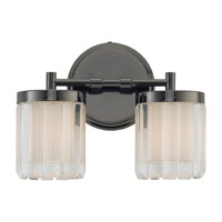 Sea Gull Lighting Nuit Noir Crystal 2 Light Wall / Bath / Vanity in Black Chrome 44691-765 photo thumbnail