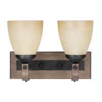 Corbeille 2 Light 13 inch Stardust / Cerused Oak Bath Vanity Wall Light in Standard