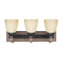 Sea Gull Corbeille 3 Light Bath Vanity in Stardust / Cerused Oak 4480403BLE-846