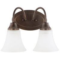 Holman 2 Light 12 inch Bell Metal Bronze Bath Light Wall Light