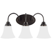 Sea Gull 44807EN3-782 Holman 3 Light 18 inch Heirloom Bronze Wall Bath Fixture Wall Light