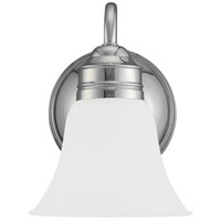 Sea Gull 44850-05 Gladstone 1 Light 7 inch Chrome Bath Vanity Wall Light in Satin Etched Glass photo thumbnail