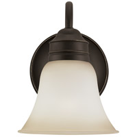 Sea Gull 44850-782 Gladstone 1 Light 7 inch Heirloom Bronze Wall Sconce Wall Light in Smokey Amber Glass