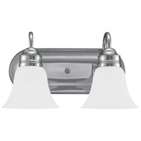 Gladstone 2 Light 15 inch Chrome Bath Vanity Wall Light in Satin Etched Glass