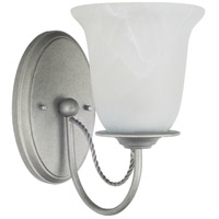 Sea Gull 44891BLE-57 Plymouth 1 Light 5 inch Weathered Pewter Wall Sconce Wall Light in Fluorescent photo thumbnail