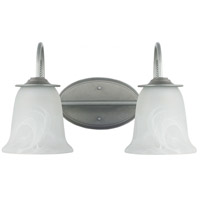 Plymouth 2 Light 16 inch Weathered Pewter Bath Light Wall Light in Fluorescent