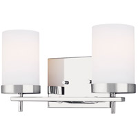 Sea Gull 4490302-05 Zire 2 Light 14 inch Chrome Bath Vanity Wall Light
