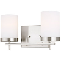 Sea Gull 4490302-962 Zire 2 Light 14 inch Brushed Nickel Bath Vanity Wall Light